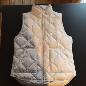 Jcrew quilted vest Small Gray